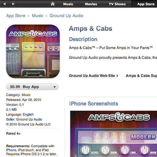 Amps & Cabs available on the App Store!